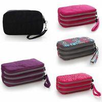 Fashion Womens Nylon Small Coin Purse Card Zipper Wallet Holder Phone Bag Clutch