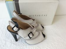 Hispanitas white heeled shoe boots size 37/4 bnwb
