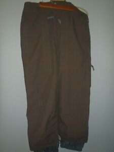Mens burton snowboard pants ,brown, medium, waterproof, used