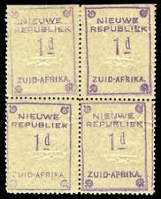 REPUBBLICA NUOVA 1887 1d Violet su carta di Granito Blu blocco di quattro Gomma integra, non linguellato. SG 72d.