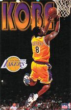 Kobe Bryant REVERSE DUNK 1998 LA Lakers Vintage Original Starline POSTER
