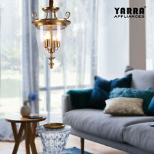 NEW 4 LT Retro Pendant Light Lamp W/ Clear Glass Luxury Contemporary Style-Gold