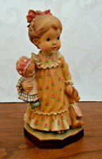 """Anri """"Nightie Night"""" Sarah Kay 6 3/4"""" Woodcarved Girl Figurine"""