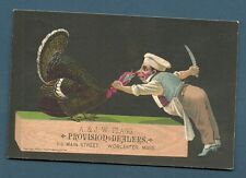 (c) 1879 Advertising Trade Card - A Flagg Worcester Mass USA Provision & Dealer