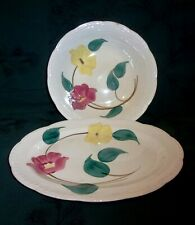 Stetson Heritage Ware Red & Yellow Flowers-Green Leaves Antique Platter & Bowl