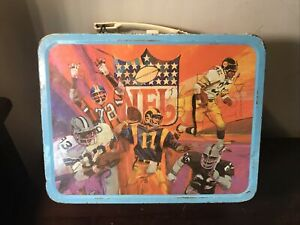 1978 NFL METAL LUNCHBOX No Thermos