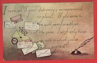 LETTERS LETTER WRITING QUILL INKWELL FAYETTE OH CLESTIA HOWARD POSTCARD