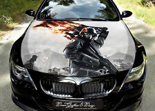 Soldier Full Color Graphics Adhesive Vinyl Sticker Fit any Car Bonnet #075