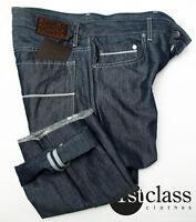 Boss Selección Jeans Nuevo Jersey 31/34 en Azul Marino Azul con leinen-anteil