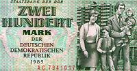 200 MARK GELDSCHEIN PAPIERGELD DDR GELD OST GELD 1985