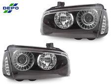 DEPO 06-10 DODGE CHARGER PROJECTOR HEADLIGHTS +WHITE LED CLEAR CORNER LIGHT SRT8