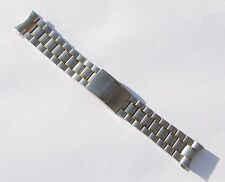 22mm Stainless Steel Watch Band - Gold & Silver Tone - Curved End - Solid Links