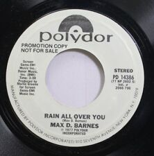 Hear! Country Folk Promo 45 Max D Barnes - Rain All Over You / Rain All Over You