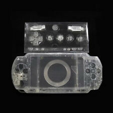 Clear Full Set Shell Case Cover For Sony PlayStation Portable PSP1000