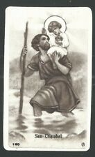 Holy card antique de San Cristobal estampa santino image pieuse andachtsbild
