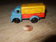 Wells brimtoy vintage friction mobile snack bar camion fer blanc rare 1950s