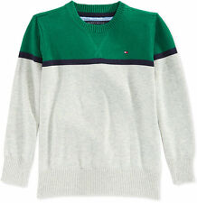 Tommy Hilfiger Little Boys' Pete Colorblocked Sweater,Verdant Green, Size 2T,$44