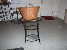Longaberger Beverage Tub Basket and Wrought Iron Stand Combo - Uec