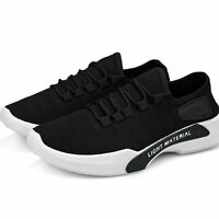 Men's Size 7.5 Black Trainers Shoes Fitness Sports Breathable Running Sneakers