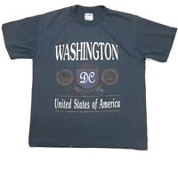 VTG WASHINGTON DC SPELL OUT SINGLE STITCH MADE IN USA TOURIST TEE T-SHIRT SIZE L