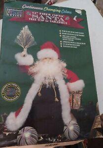 Vintage Fiber Optic Santa New In Box