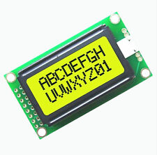 1PCS Yellow 0802 LCD 8x2 Character LCD Display Module 5V LCM For Arduino AU NEW