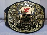 WWF Smoking Skull Heavyweight Champion Wrestling Belt / Adult Size / Brass Plate