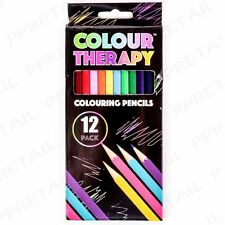 12 COLOUR THERAPY COLOURING PENCILS - PROFESSIONAL ARTIST