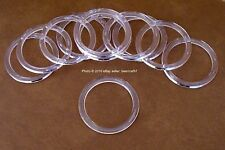 "25 Retail Store Thick Clear Acrylic Rings Scarf and Belt Hangers 3.25"" [8.25 cm]"