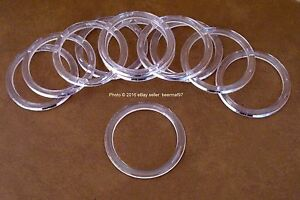 """25 Retail Store Thick Clear Acrylic Rings Scarf and Belt Hangers 3.25"""" [8.25 cm]"""