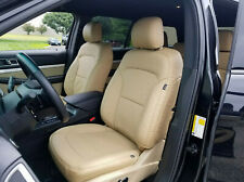 KATZKIN BISQUE LEATHER INT SEAT COVER FITS 2016-2019 FORD EXPLORER BASE XLT 3ROW