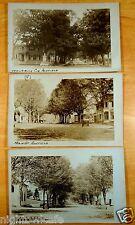 Ashfield Massachusetts Main Street & Sedgewick Corner 3 Photo Postcards c.1910