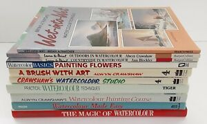 10 Book Collection of Watercolour Painting Practical Techniques Guides Job Lot