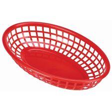 Fast Food Basket Red 27.5 x 17.5cm Serving Dish Bowl Sauce Side Cafe Pot x 6