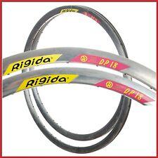 "NOS RIGIDA DP18 AERO RIMS 28"" 26"" 32H VINTAGE CLINCHER 90s TIME TRIAL TRACK HOLE"