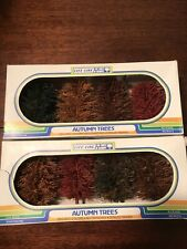 "2 Packs Life-like 1002 Autumn Trees 4"" Train Layout Landscaping Fall Decor"