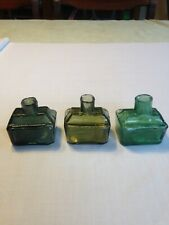 More details for collectable ink bottles three small boat inks