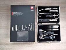 Zwilling Classic Inox Maniküre Set 10 tlg schwarz mit Nagelknipser Nagelzange