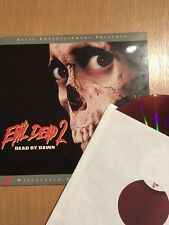 Evil Dead 2: Dead by Dawn (Laserdisc, 1997) RED DISC EDITION