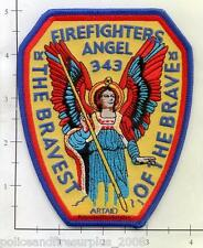 New York - Angel Firefighters NY Fire Dept Patch 9-11 343 Never Forget