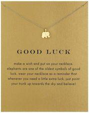 "Halskette ""ELEFANT-GOOD LUCK"" Halskette Baby Elefant Good Luck Geschenk Neu Gold"