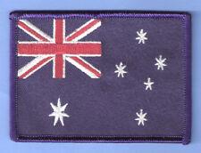 AUSTRALIA AUSTRALIAN FLAG BIKER IRON ON PATCH