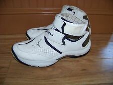 vintage 2006 NIKE Air Jordan T4G White/Blue Leather Sneakers/Shoes 11 313527-102