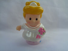 2012 Fisher Price Little People Princess Cinderella White Wedding Dress Figure