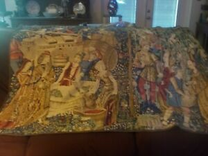 """Large Tapestry """"Russian Harvest """" made in  France mfg. $750 68 x 45"""