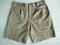 Nike Golf Mens Size 36 Dri-Fit Shorts Tan/Beige Pleated Front
