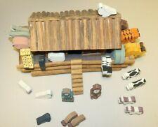 Vintage Wooden Noah's Ark With 28 Animals Hand Made In Sri Lanka Noah Naamah