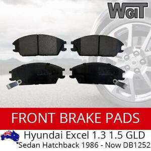 Front Brake Pads For HYUNDAI Excel 1.3 1.5 GLD Sedan Hatchback 1986 - 2000 DB125