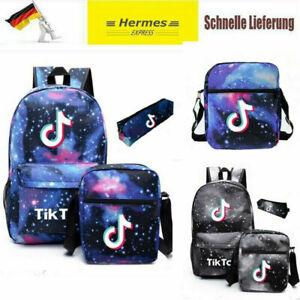 3PCS TikTok Rucksack Kinder Schulrucksack Freizeit Backpack Mädchen Jungen DE