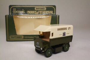Models of Yesteryear Y-29/1; 1919 Walker Electric Van; Harrods; Excellent Boxed